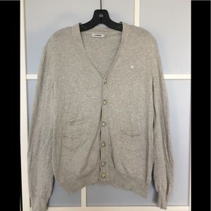 J. Lindeberg Melvin Light Grey Cotton Cardigan